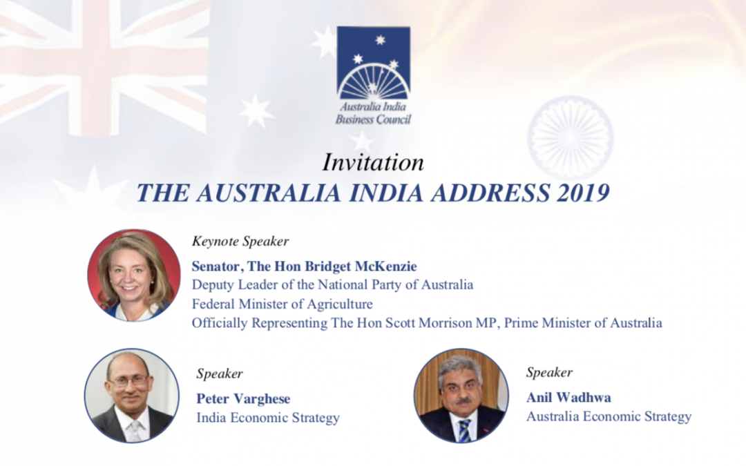 THE AUSTRALIA INDIA ADDRESS 2019